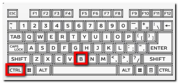 「Ctrl」 + 「B」 太字 キーボードのキャプチャ