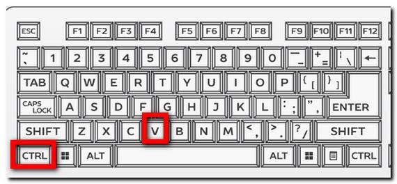 「Ctrl」 + 「V」 貼り付け