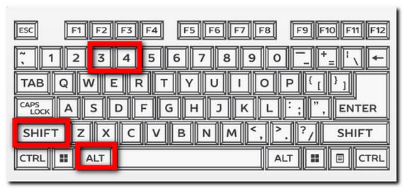 キーボードのキャプチャ ⑤「Shift」+「Alt」 + 【3】【4】 大見出し&中見出し