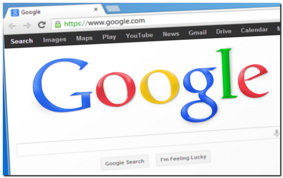パソコンにGoogleの検索画面が表示