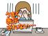 パソコンと悩んでいる女性のイラスト